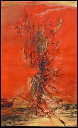 Zao Wou-Ki (1920-2013)  22.6.63, Painted in 1963  oil on canvas  146 x 89 cm Estimate: HK$ 38,000,000 - 58,000,000