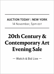 20th Century & Contemporary Art Day and Evening Sale Today